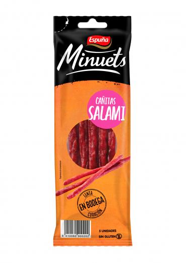 Minuets cañitas salami 50 gr.