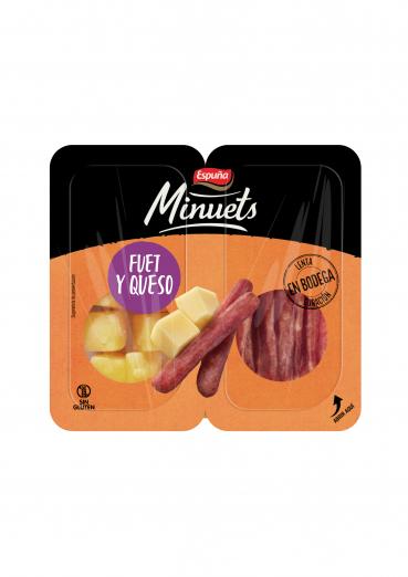 Minuets snackbox fuet i formatge 50 gr.